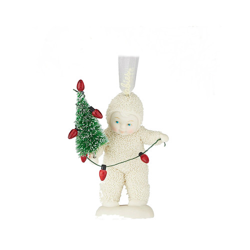 Department 56 - Snowbabies - Lighting Up The Tree Ornament