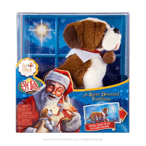 Elf on the Shelf -Elf Pets A Saint Bernard Tradition Book & Pet