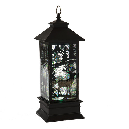 *Top Seller* Wondering Lights Battery Operated Shimmering Water Black Deer Lantern