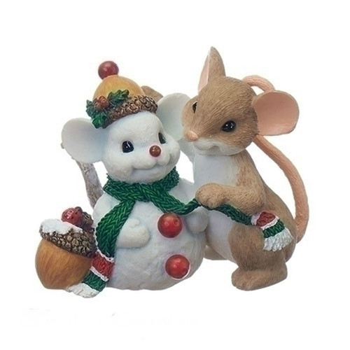Charming Tails - Mouse with Snowman