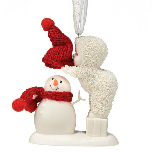Department 56 - Snowbabies - Top It Off Snowman Ornament