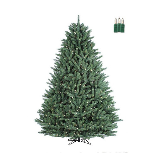 Santa's Own* 7.5 Ft Crystal Mountain - Artificial Christmas Tree - Staylit® Clear lights -*FREE SHIPPING