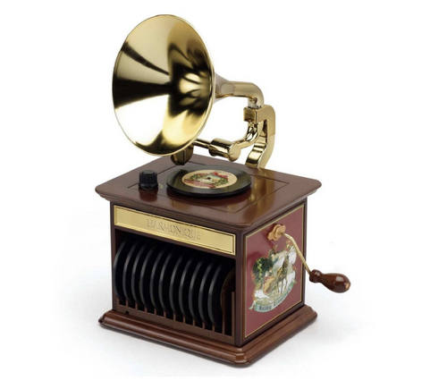 Mr. Christmas Animated and Musical Harmonique Gramophone Decoration