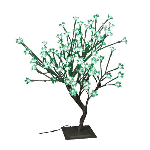 Indoor / Outdoor Table Top Bonsai Tree - Green LED Lights