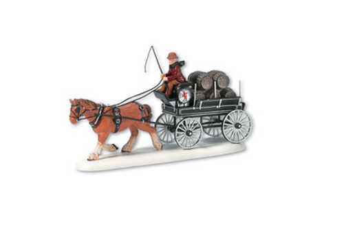 Dickens' Village Accessories- Red Lion Beer Wagon