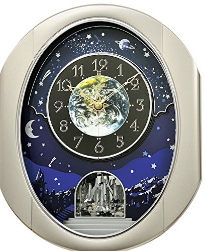 Rhythm Magic Motion Musical Clock - Peaceful Cosmos II - (Micro Fiber Cloth Incl.)