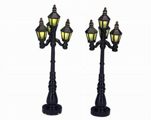 Lemax Village Old English Street Lamps 2-Piece Set