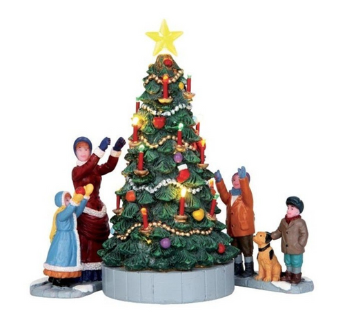 Lemax Village Collection The Village Tree Set of 3 Battery Operated
