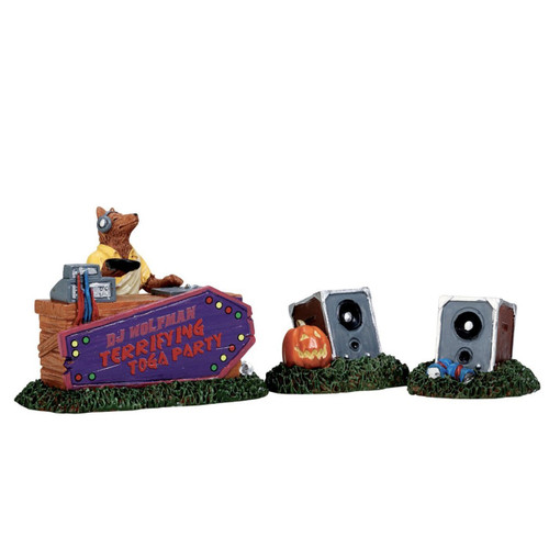 Lemax 72486 Spooky Town DJ Wolfman Set of 3