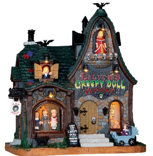Lemax  - Halloween Creepy Doll Shop with Light and Sound