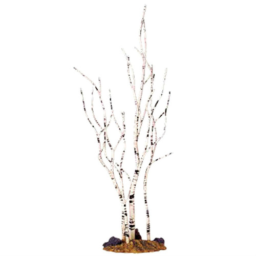"Lemax  - WINTER BIRCH TREE 9"" Bare White Christmas Village Scenery"