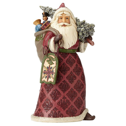 Jim Shore- Heartwood Creek- Victorian Santa with Toy Bag