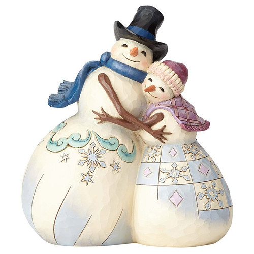 Jim Shore- Heartwood Creek- Snowman with his Snow Lady