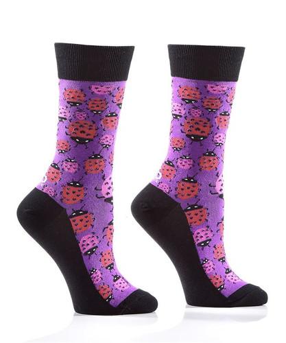 Yo Sox - Woman's Crew Sock with Ladybug Design