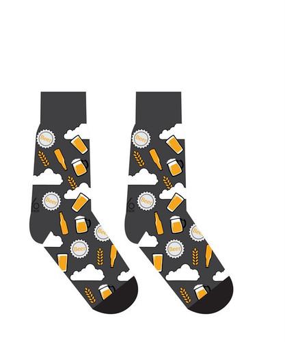 Yo Sox - Men's Crew Sock with Beer Design