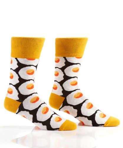 Yo Sox - Men's Crew Sock with Fried Egg Design