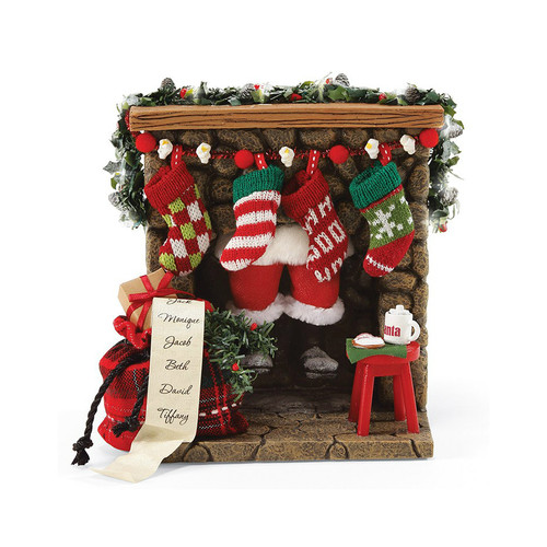 Department 56-Possible Dreams- Coming Down the Fireplace Clothtique Santa