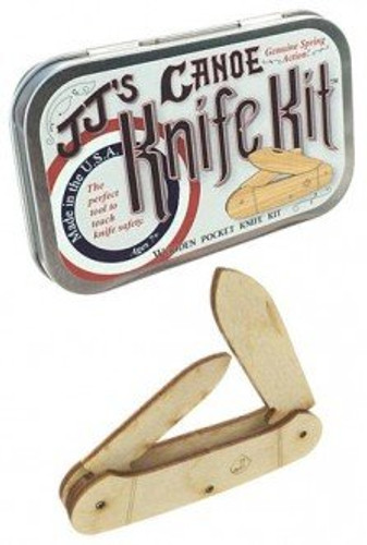Canoe Wooden Knife Kit USA Tin Box-Science Kits