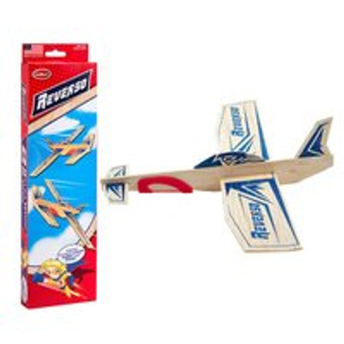 Channel Craft Guillow's Reverso Balsa Wood Glider Plane Twin Pack (Made in USA)