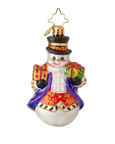 Christopher Radko Elegant Adam Gem Snowman Ornament