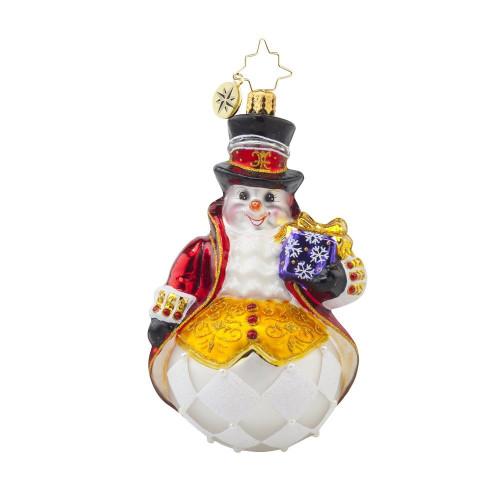 Christopher Radko Lord Frost Snowman Glass Ornament