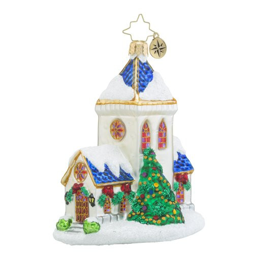 Christopher Radko Blessed Tidings Brilliant Treasure Religious Christmas Ornament