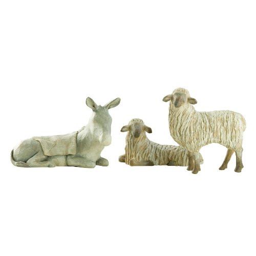 Willow Tree Gentle Animals of the Stable, 3-piece set of animal figures by Susan Lordi