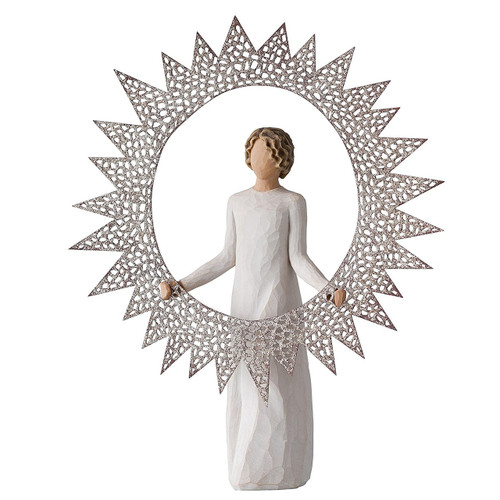 Willow Tree 27277 Starlight Angel Tree Topper, 12-Inch Height