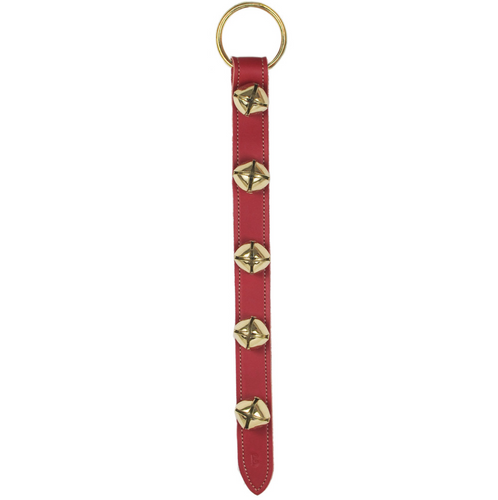 Belsnickel - Red Five Sleigh Bell Strap 20""