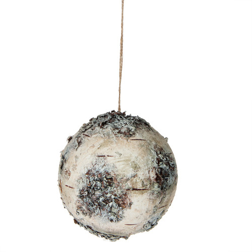 Snowy Birch Ball Ornament 4inch