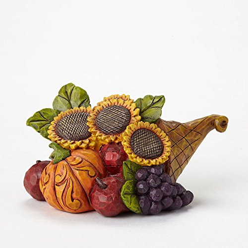 Jim Shore - Heartwood Creek Mini Cornucopia with Sunflower Figurine, 1.625""