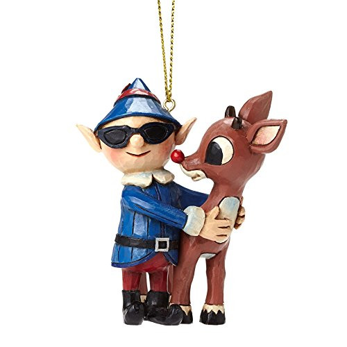 Jim Shore Rudolph with Elf in Sunglasses Ornament