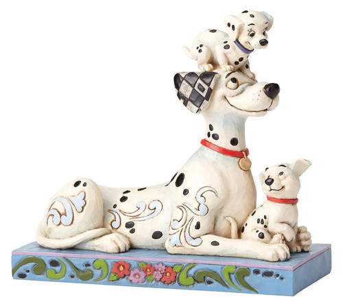 Jim Shore 101 Dalmatians Pongo, Penny and Rolly Stone Resin Figurine