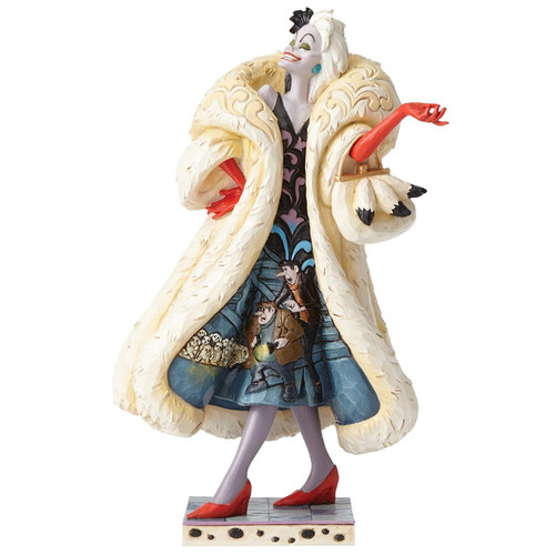 Jim Shore Disney Traditions- Devilish Dognapper Cruella De Vil Figurine