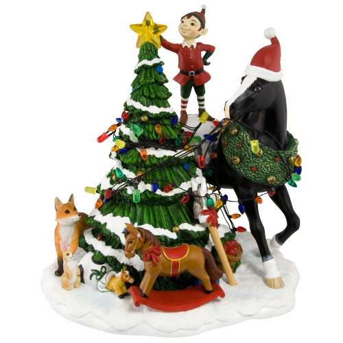 Trail of Painted Ponies Woodland Christmas Centerpiece, 9-Inch