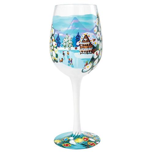 Lolita Wine Glass Winter Magic Wine_Glass 9 In