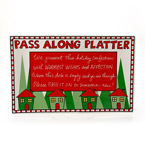 Our Name is Mud by Lorrie Veasey Christmas Passalong Platter, 7.25-Inch