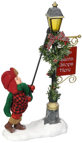 "Department 56 Possible Dreams Santa Claus ""Lamp Lighter"" Clothtique Christmas Figurine"