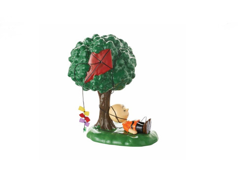 "Department 56 Peanuts Village ""Kite-Eating Tree"" Figurine"