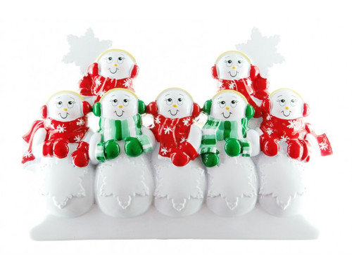 Free Personalization* Snowpeople Family of 8