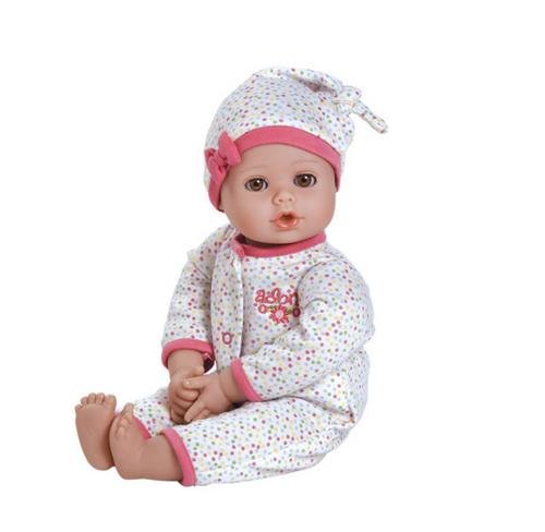"Adora Playtime Baby Dot - 13"" Vinyl Baby Doll with light Skin Tone & Brown Eyes"