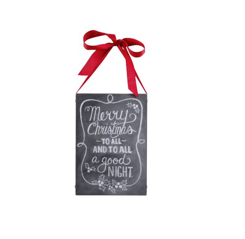 Primitives by Kathy - Merry Christmas Chalkboard Sign