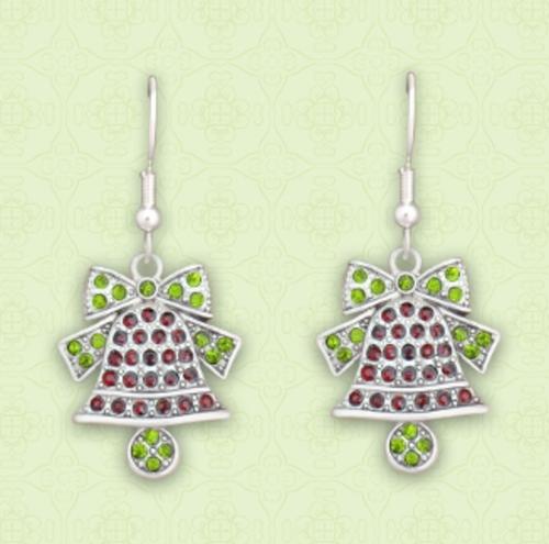 Christmas Bell Crystal Earrings