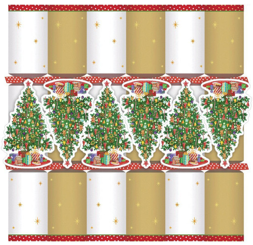 Caspari Celebration Crackers with Luxury Embellishments, 12.5 Inch, Trim a Tree