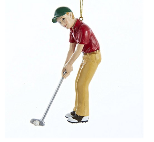 Boy Golfer Sports Athlete Golf Christmas Ornament Golfing Decoration