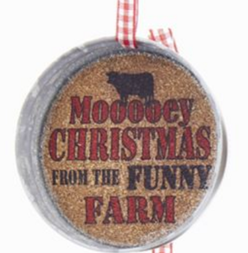 Mooooey Christmas Cork Jar Lid - By Kurt Adler