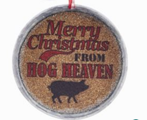 Merry Christmas From Hog Heaven Cork Jar Lid - By Kurt Adler