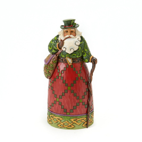 Jim Shore Christmas Heartwood Creek - Irish Santa Figurine 7 inches