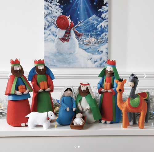 COLOURFUL FELT NATIVITY SET OF 9