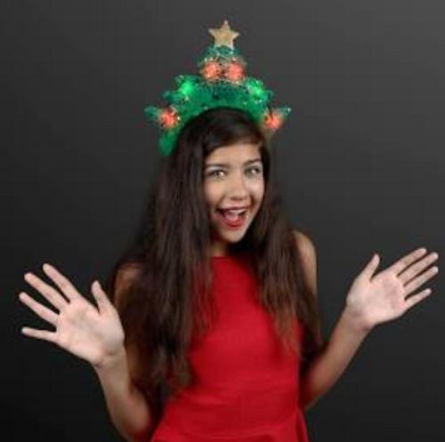 LED Sparkling Christmas Tree Headband